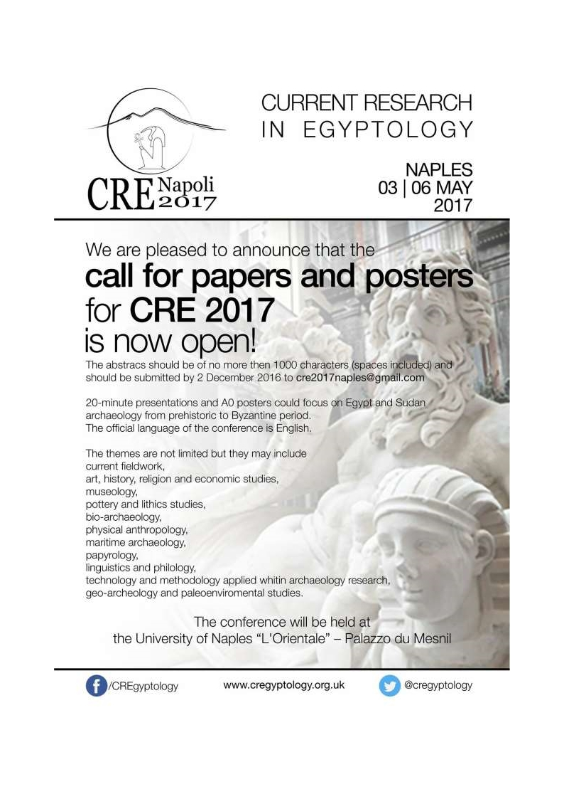 CRE 2017 Napoli call for abstracts